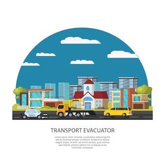 Assistência para carro e modelo de resgate
