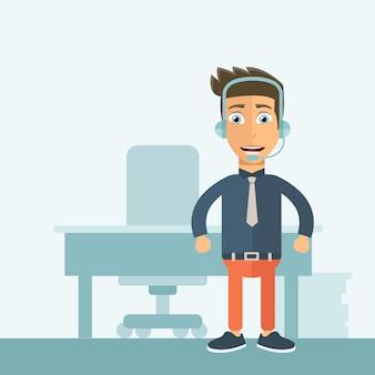 Assistente de suporte ao cliente no escritório