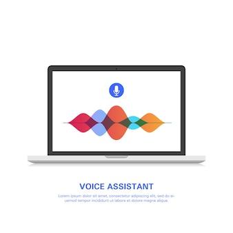 Assistente de voz inteligente no computador.