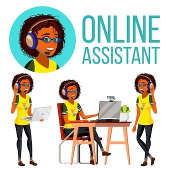 Assistente online africano