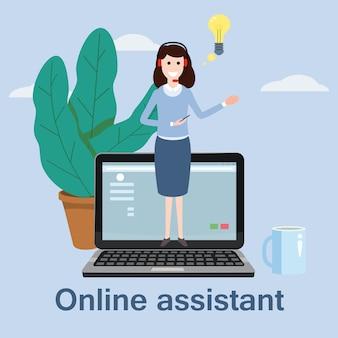 Assistente online de conceito,