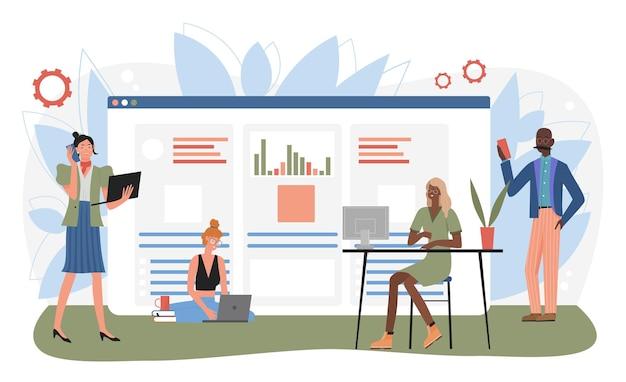 Assistente online no trabalho cliente call center operador de suporte técnico global online