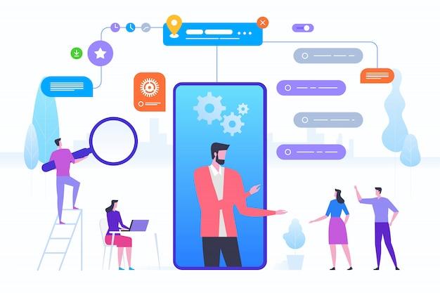 Assistente online para smartphone