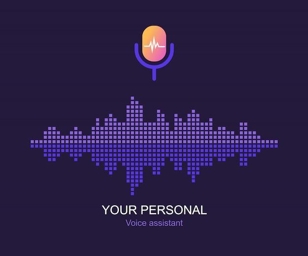 Assistente pessoal e conceito de reconhecimento de voz