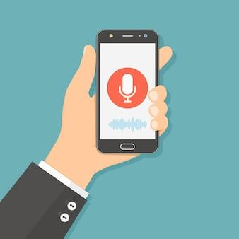 Assistente pessoal e reconhecimento de voz no aplicativo móvel