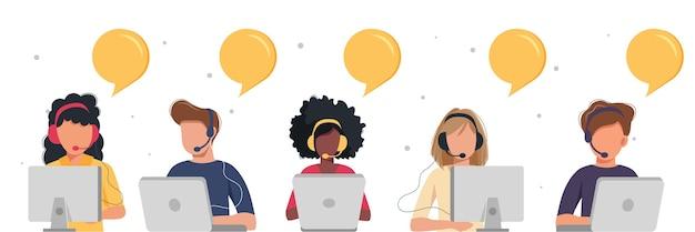 Assistentes online com balões de fala