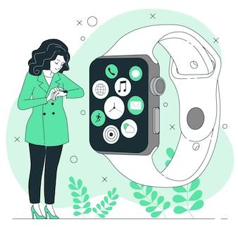 Assistir a ilustração do conceito de aplicativo