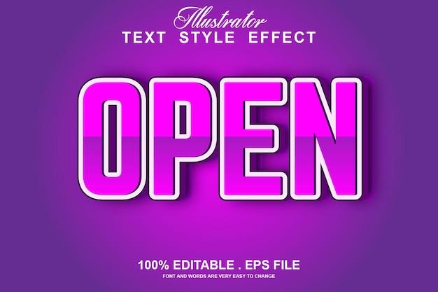 Assistir efeito de texto editável