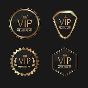 Associação vip crachá de ouro