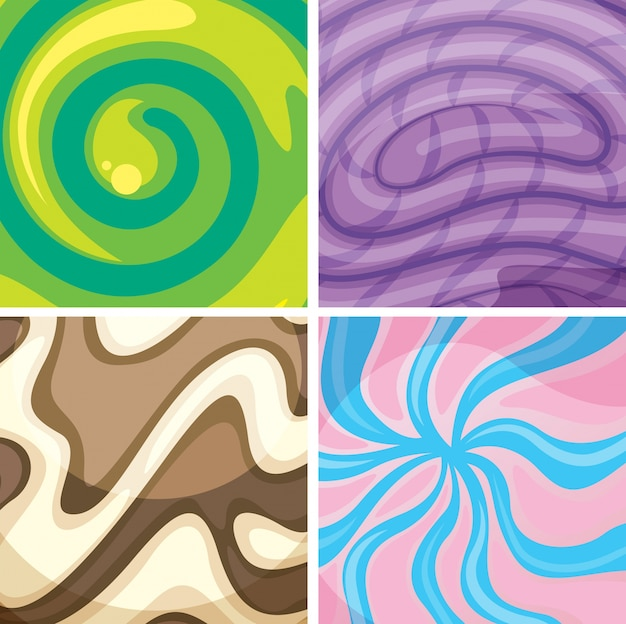 Assorted colorfull background templates