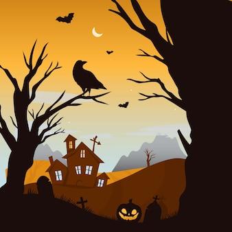 Assustador feliz dia das bruxas