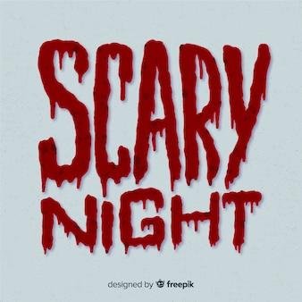Assustador noite halloween letras