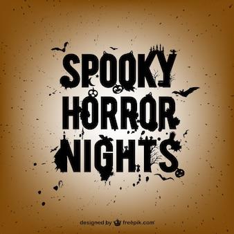 Assustador poster noites de terror