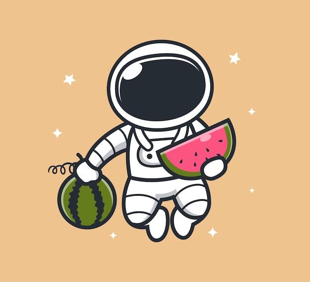 Astronauta adora melancia