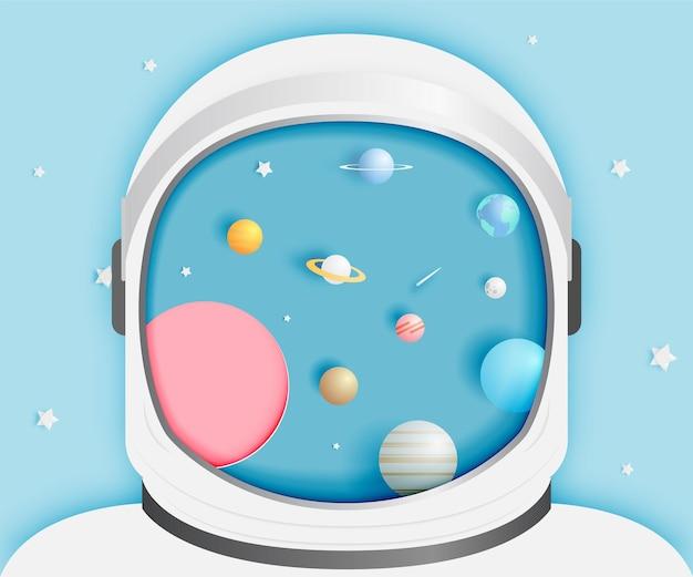 Astronauta com universo.