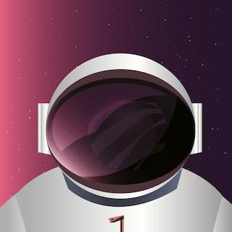 Astronauta e design de espaço
