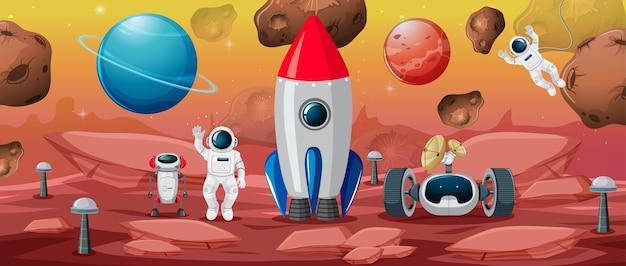 Astronauta em cena espacial