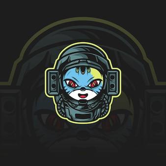 Astronauta gato mascote