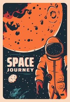 Astronauta no espaço sideral, exploração de marte