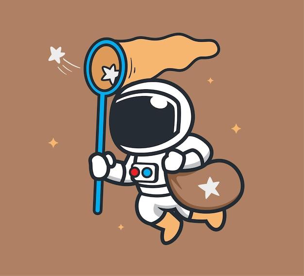 Astronauta pega as estrelas