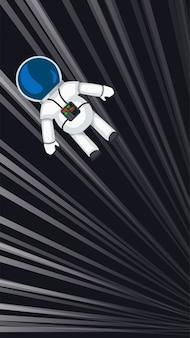 Astronauta voando na velocidade da luz