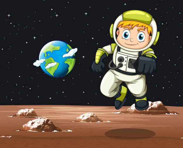 Astronauta voando no espaço