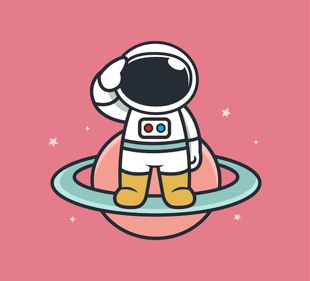 Astronautas prontos para trabalhar no espaço