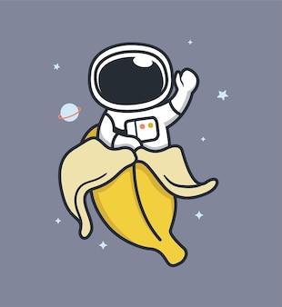 Astronautas saem de bananas
