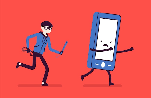 Ataque de roubo de telefone