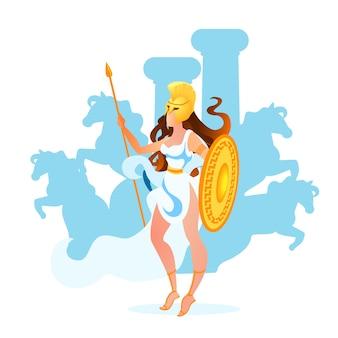 Atena ou deusa atena de sabedoria, artesanato e guerra