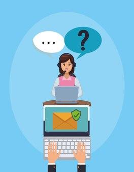 Atendimento ao cliente on-line e suporte