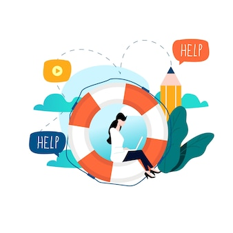 Atendimento ao cliente, suporte técnico, ajuda on-line