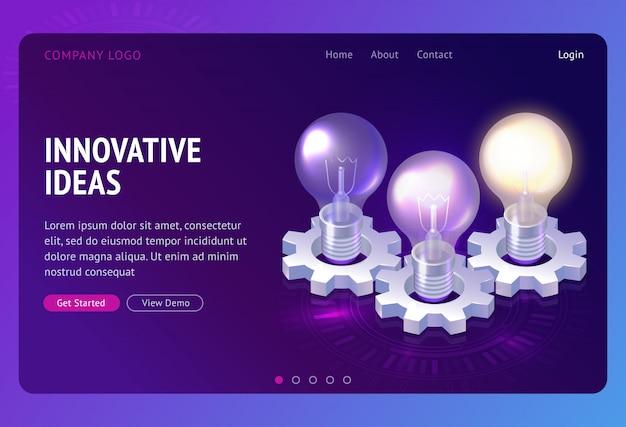 Aterrissagem isométrica de desenvolvimento de idéias inovadoras