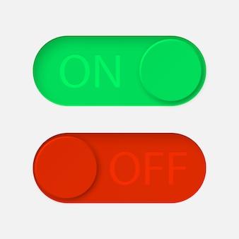 Ativar e desativar botões de alternância.
