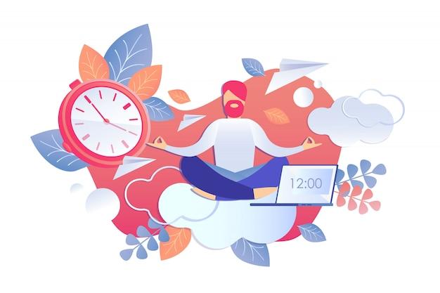 Atividade de análise e ilustração vetorial de tempo.