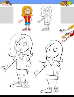 Atividade de desenho e coloração para crianças