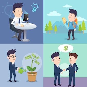 Atividade de empresário no dia