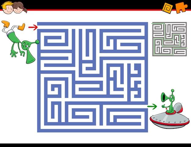 Atividade de labirinto para crianças