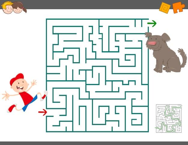 Atividade de lazer do labirinto