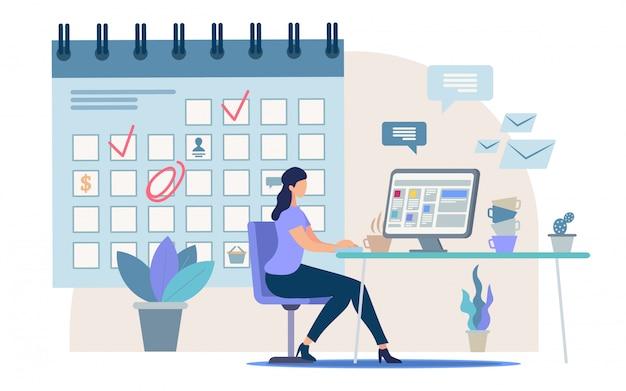 Atividade de planejamento de negócios, gerenciamento de tempo