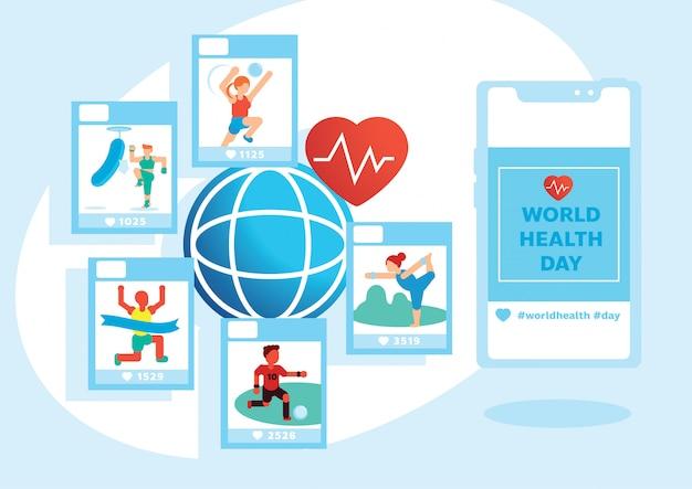 Atividade de variedade no dia mundial da saúde