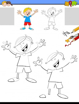 Atividade educativa de desenho e coloração para crianças