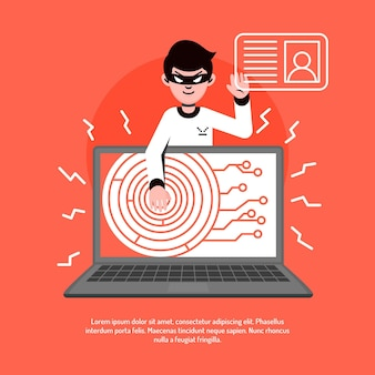 Atividade hacker ilustrada