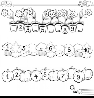 Atividade matemática educacional para crianças