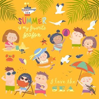 Atividades ao ar livre da criança do verão