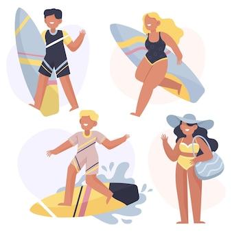 Atividades ao ar livre de verão