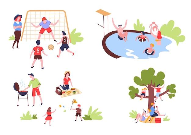Atividades ao ar livre e recreação de verão