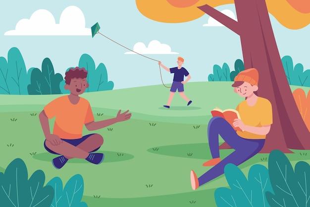 Atividades ao ar livre na natureza