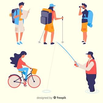 Atividades de férias de pessoas