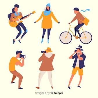 Atividades de férias em pessoas